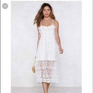 Nasty gal crochet lace midi dress